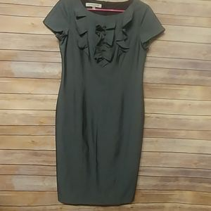 Evan Picone Gray Ruffle Dress size 8